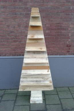 Houten Kerstboom Plat Planken 180cm