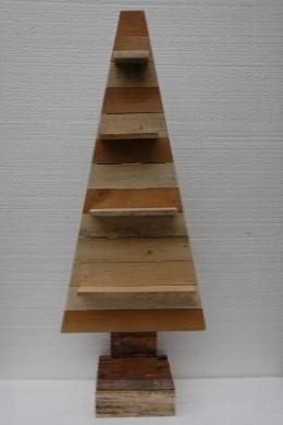 Houten Kerstboom Plat Planken 120cm