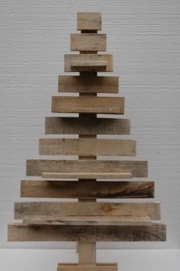 Houten Kerstboom Trapsgewijs 100cm