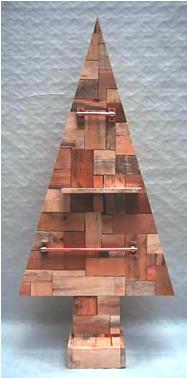Houten Kerstboom Tetris